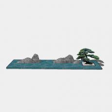 假山_045中式假山_Sketchup模型