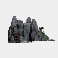 假山_048中式假山_Sketchup模型