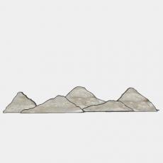 假山_050中式假山_Sketchup模型