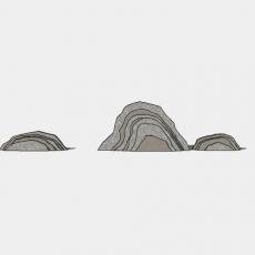 假山_051中式假山_Sketchup模型