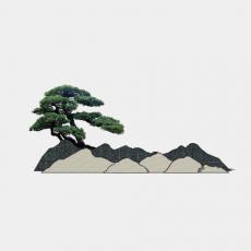 假山_053中式假山_Sketchup模型