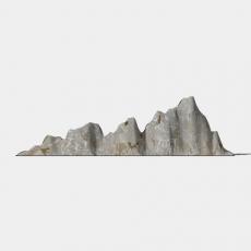 假山_054中式假山_Sketchup模型