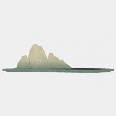 假山_066中式假山_Sketchup模型