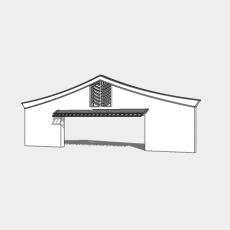 墙体_中式景墙017_Sketchup模型