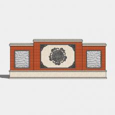 墙体_中式景墙062_Sketchup模型
