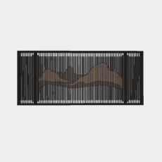 墙体_058中式景墙_Sketchup模型