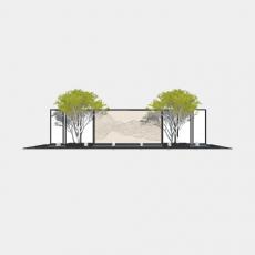 墙体_063中式景墙_Sketchup模型