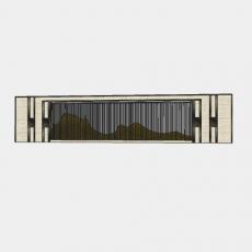 墙体_067中式景墙_Sketchup模型