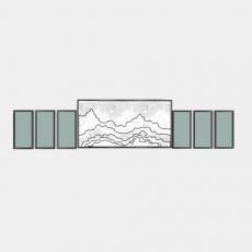 墙体_070中式景墙_Sketchup模型