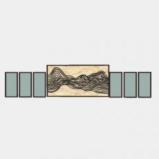 墙体_072中式景墙_Sketchup模型