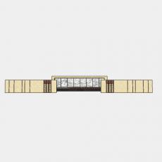 墙体_080中式景墙_Sketchup模型