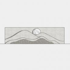 墙体_082中式景墙_Sketchup模型