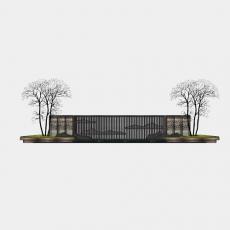墙体_090中式景墙_Sketchup模型