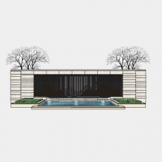 墙体_091中式景墙_Sketchup模型