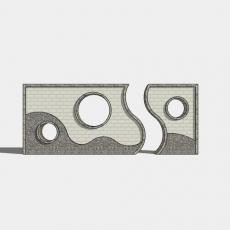 墙体_095中式景墙_Sketchup模型