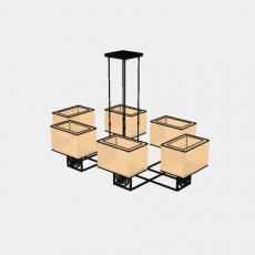 墙体_1中式灯具_Sketchup模型