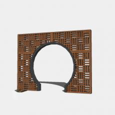 墙体_207中式景墙_Sketchup模型