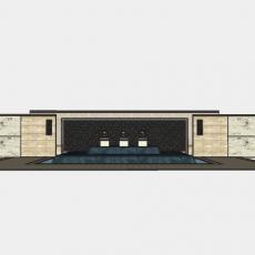 墙体_208中式景墙_Sketchup模型