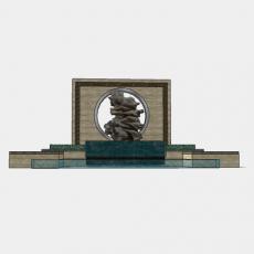 墙体_210中式景墙_Sketchup模型
