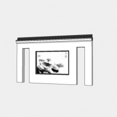 墙体_214中式景墙_Sketchup模型
