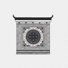 墙体_217中式景墙_Sketchup模型