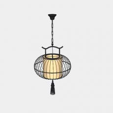 墙体_3中式灯具_Sketchup模型