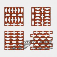 屏风_33_Sketchup模型