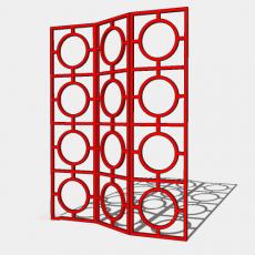 屏风_57_Sketchup模型