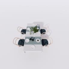 桌椅_276_Sketchup模型