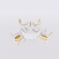 桌椅_277_Sketchup模型