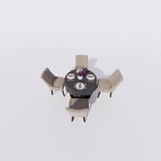 桌椅_282_Sketchup模型