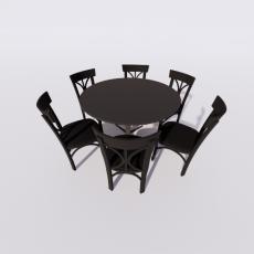 桌椅_285_Sketchup模型