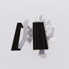 桌椅_286_Sketchup模型