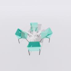 桌椅_290_Sketchup模型