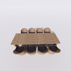 桌椅_296_Sketchup模型