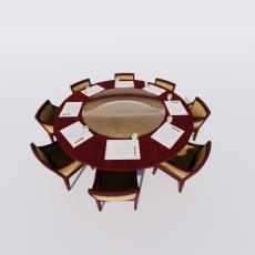 桌椅_301_Sketchup模型