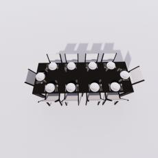 桌椅_305_Sketchup模型