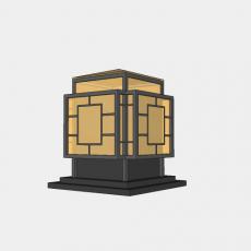 灯具_中式灯具196_Sketchup模型