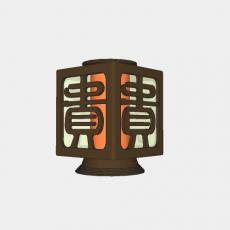 灯具_中式灯具200_Sketchup模型