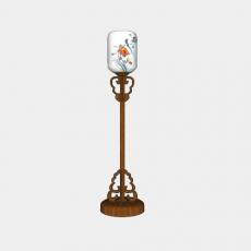 灯具_中式灯具215_Sketchup模型