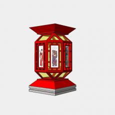 灯具_中式灯具219_Sketchup模型
