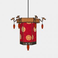 灯具_中式灯具220_Sketchup模型