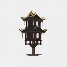 灯具_中式灯具224_Sketchup模型