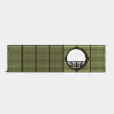 背景墙_123中式景墙_Sketchup模型