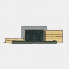 背景墙_125中式景墙_Sketchup模型
