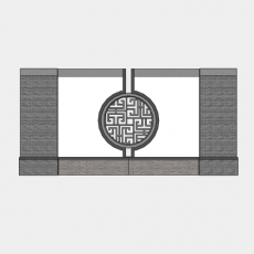 背景墙_127中式景墙_Sketchup模型
