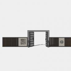 背景墙_131中式景墙_Sketchup模型