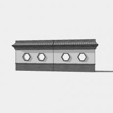 背景墙_132中式景墙_Sketchup模型