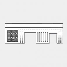 背景墙_134中式景墙_Sketchup模型