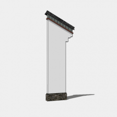 背景墙_138中式景墙_Sketchup模型